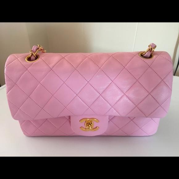 52a0fa026bd0 CHANEL Handbags - 100% Authentic Pink Chanel classic purse